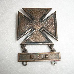 WWII Sterling Silver MALTESE Cross Rifleman Pin